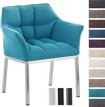 CARACTERÍSTICAS: El asiento de la silla de visita está tapizado en tela. Este material es flexible y