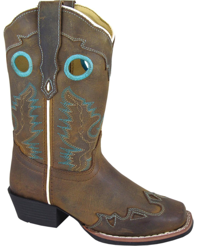 Smoky Mountain Girls' Eldorado Western Boot Square Toe - 3344C B00BNMZOPK 6|Brn