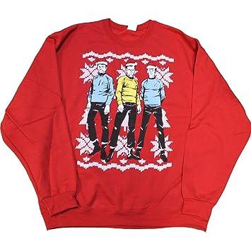 Star Trek Ugly Christmas Sweater Tacky Holiday Sweatshirt Mens