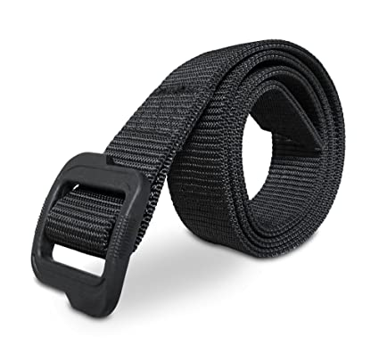 MISSION ELITE Heavy Duty Tactical Belt - 2-Ply EDC Nylon Belt with No Metal  - Reinforced for Tools Equipment Security Military Hunting Wilderness