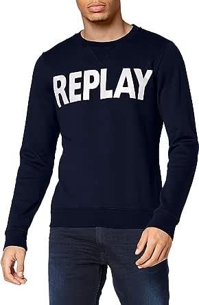REPLAY Logo Sweater Sudadera para Hombre
