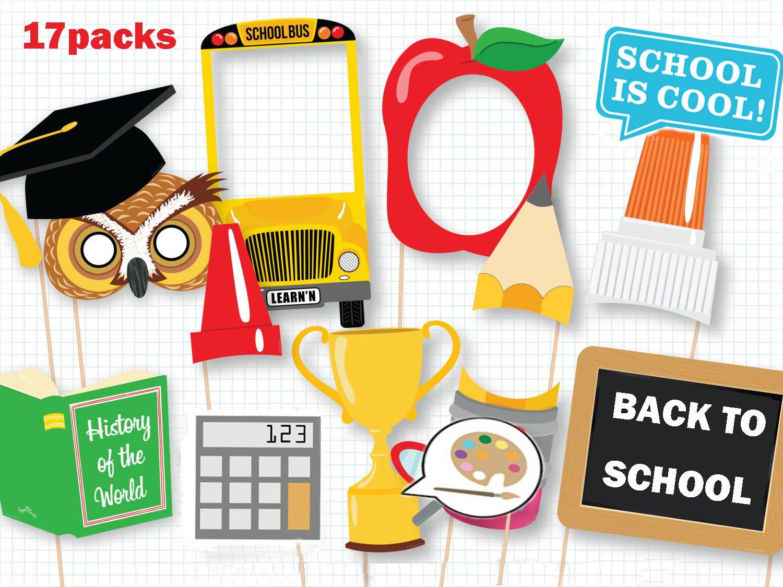 Amazon.com: Back to School Photo Booth Props, Preschool ...