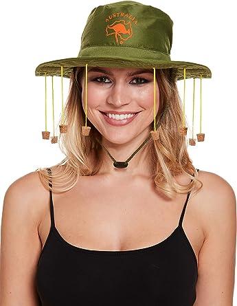 Adults Australian Cork Hat Outback Fancy Dress Accessory FREE P/&P