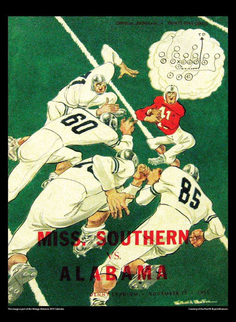 Alabama Crimson Tide 2015 Vintage Football Calendar: Asgard Press ...