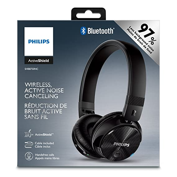 Philips SHB8750NC/27 Wireless Noise Canceling Headphones, Black ...