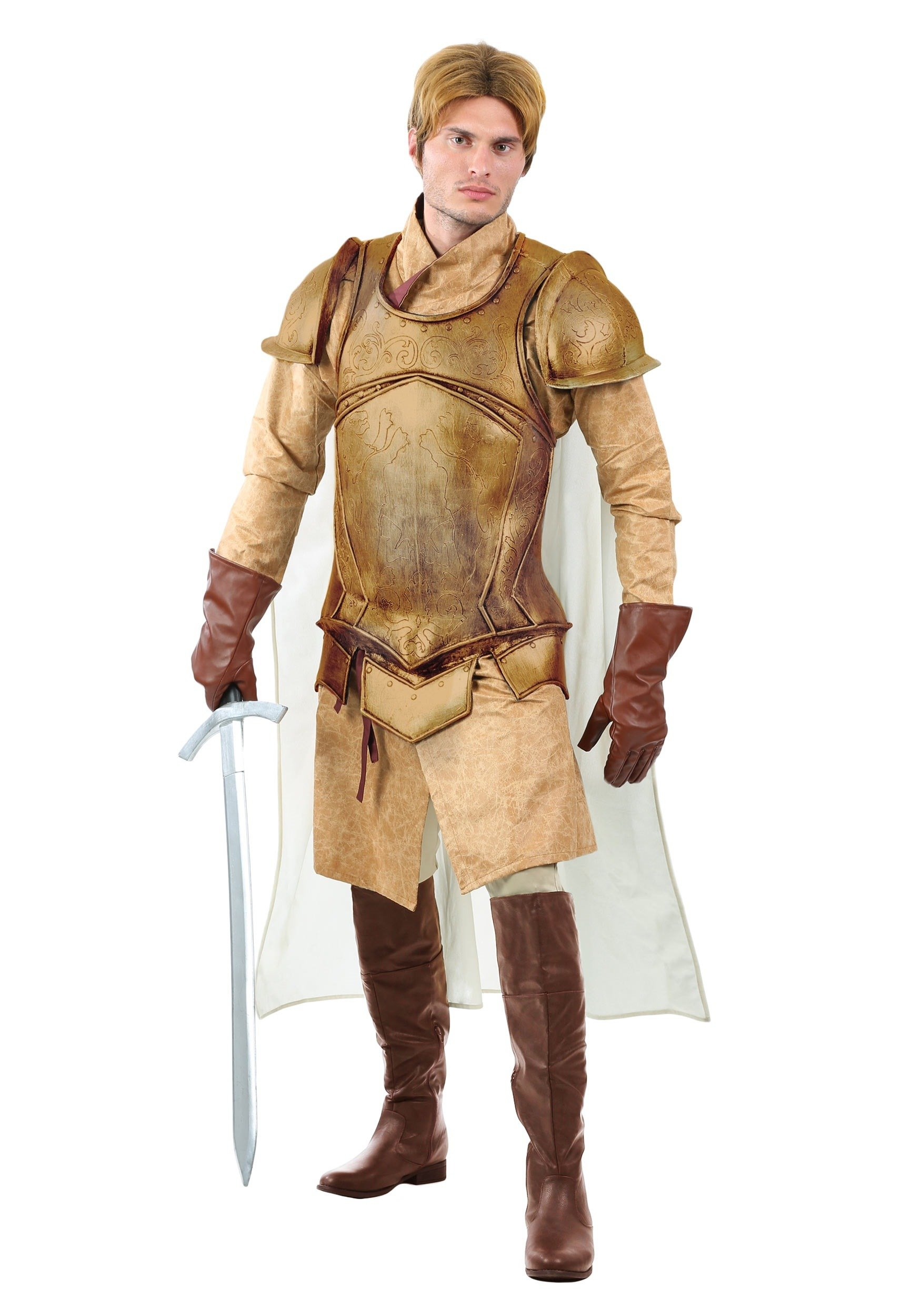Renaissance Knight Mens Costume X-Large Brown