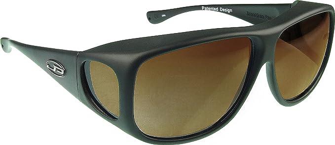 4cec44842b14 Fitovers Eyewear Aviator Sunglasses, Matte Black, Polarvue Amber ...