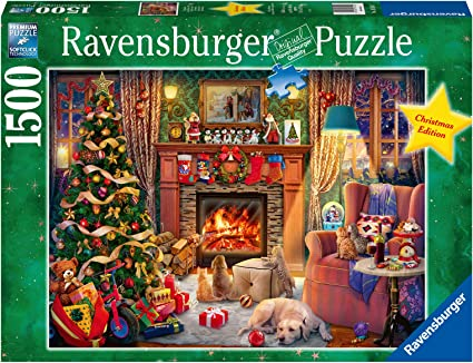 Ravensburger Christmas Puzzle 2021 Amazon Com Ravensburger 16558 Christmas Eve 1500 Pc Puzzles For Adults Every Piece Is Unique Softclick Technology Means Pieces Fit Together Perfectly Toys Games