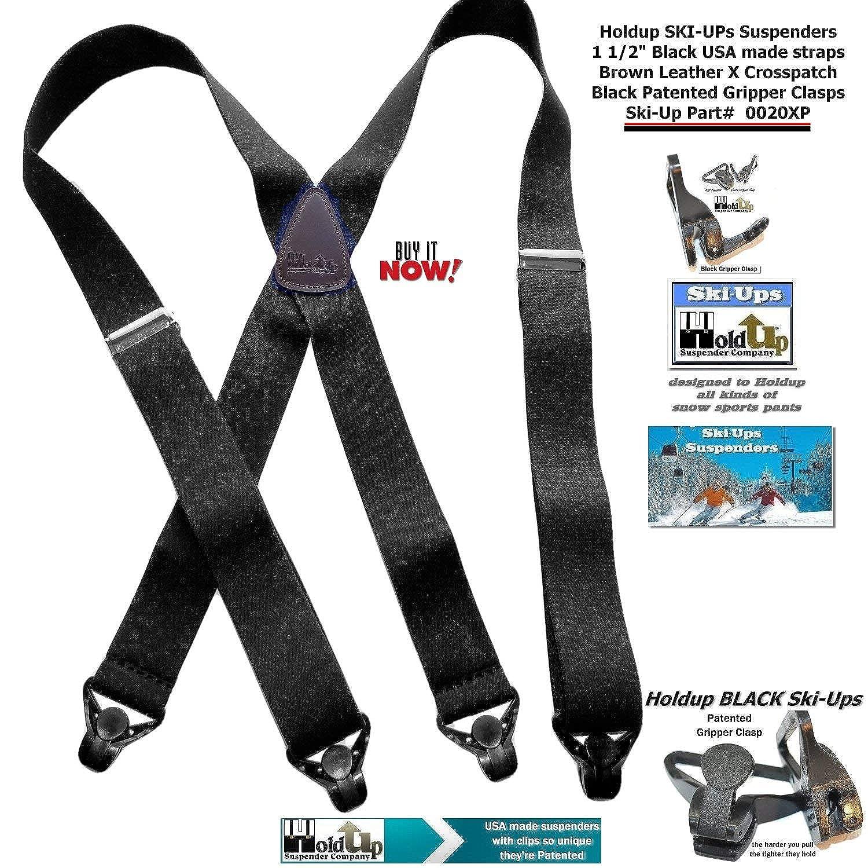 American Made Holdup Black Snow Ski Ups X Back Suspenders With