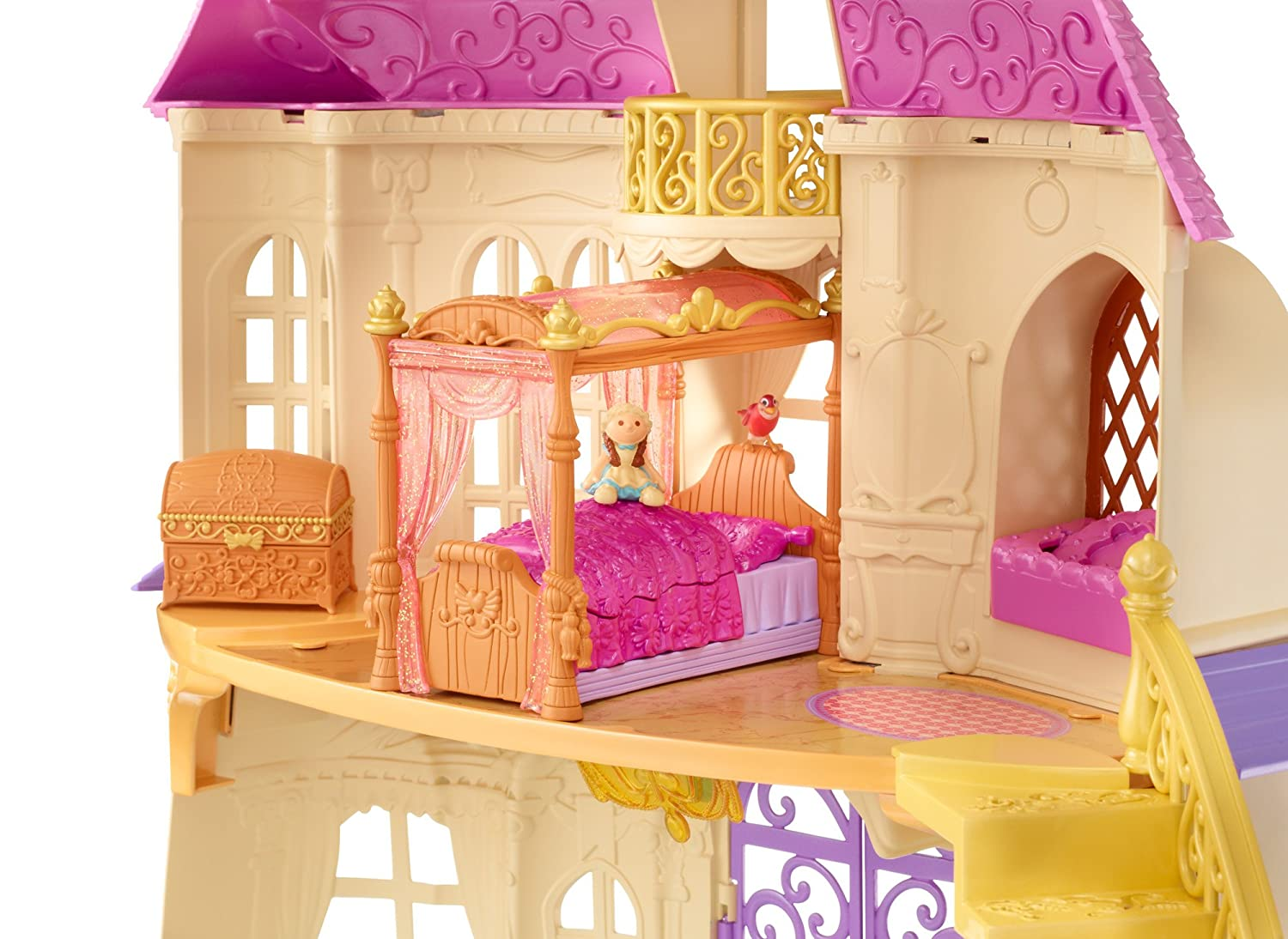 Amazon Com Disney Sofia The First Royal Bed Playset Toys Games