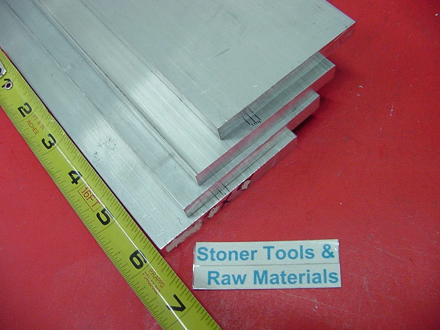 4 pieces 1//4 X 3-1//2 ALUMINUM 6061 FLAT BAR 6 long T6 Solid Plate Mill Stock