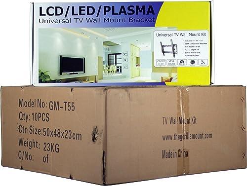 10-Pack 19 to 55 LCD LED Flat Screen TV Wall Mount Kit -15 Degree Tilt