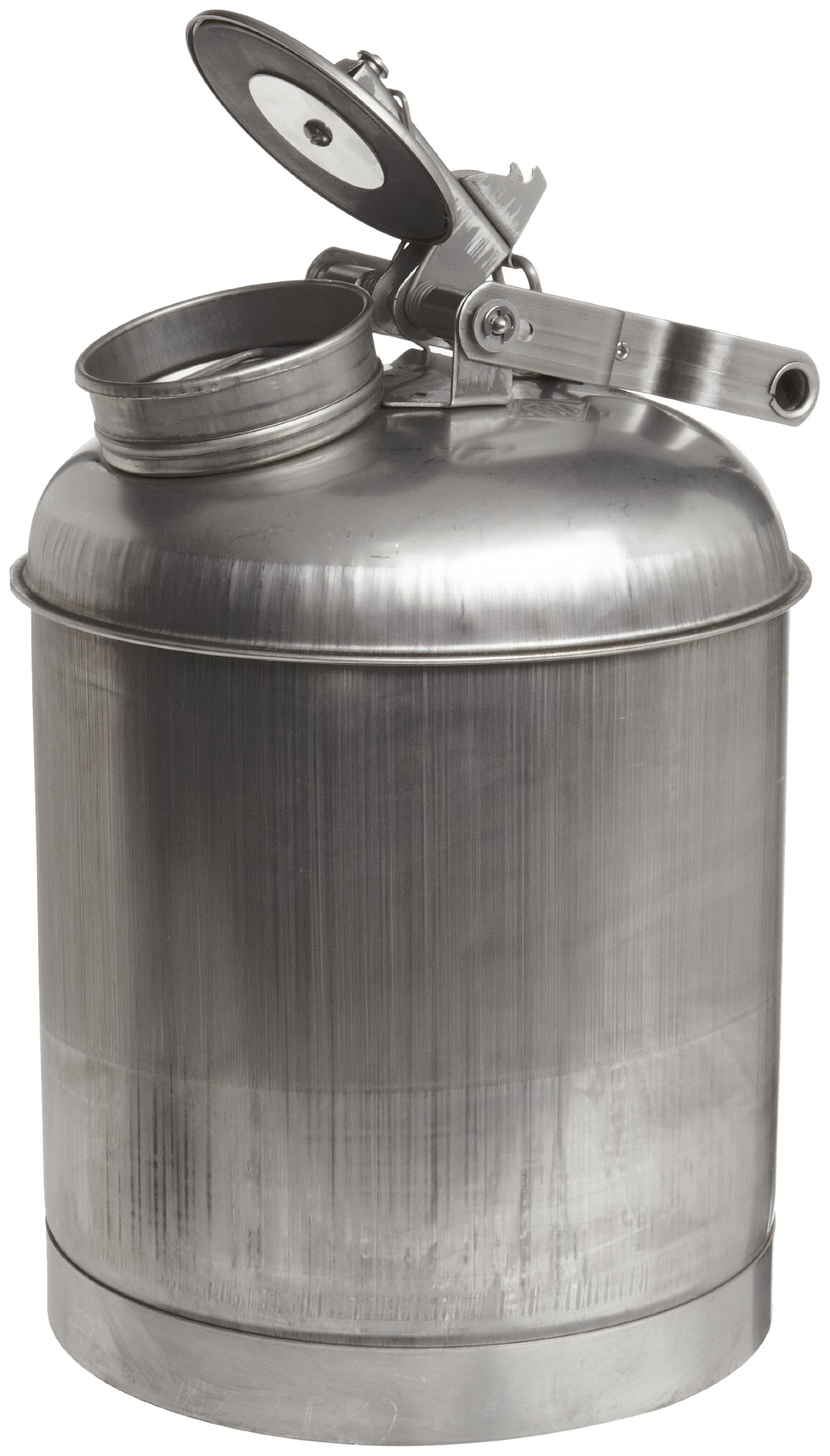 Eagle 1325  Stainless Steel 316 Disposal Safety Can, 5 Gallon Capacity, Silver