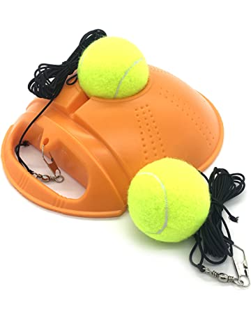 Linkin Sport Tennis Trainer Rebound Baseboard Self Tennis Training Tool Ball Back Training Gear with 2