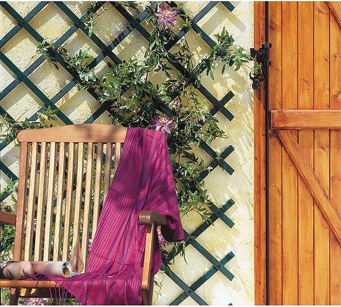 intermas Trellis Celosía de plástico, Verde, 25x2x100 cm: Amazon ...