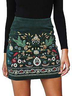 big sale 5f902 d4d3a Annybar Damen Kurz Skirt Sexy Elegant A Linien Rock Kord ...
