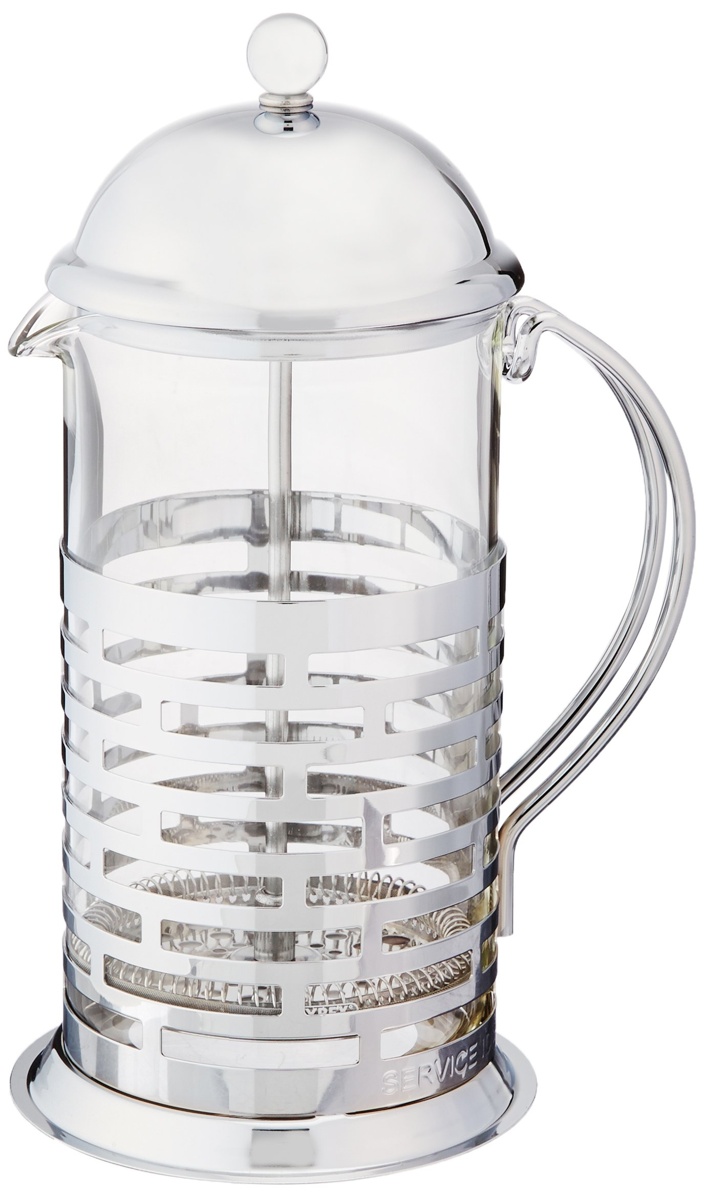 Service Ideas T877B Brick Coffee Press, Polished, 1 L