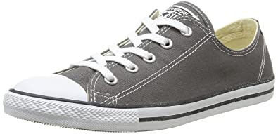 32254141159e48 Image Unavailable. Image not available for. Color  Converse Women s Chuck  Taylor All Star Dainty Ox Charcoal Casual Shoe ...
