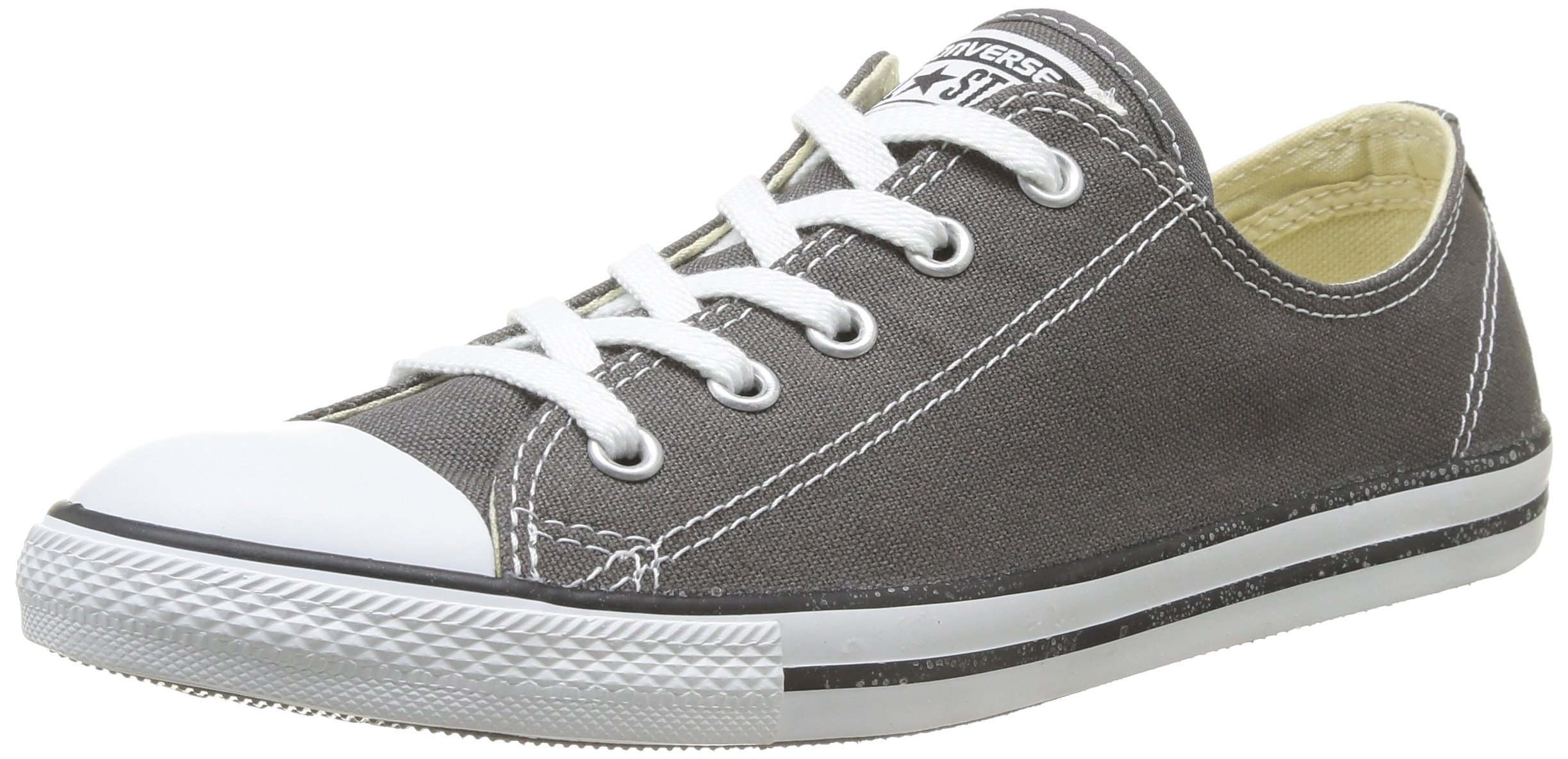5824a95bd4692e Galleon - Converse Women s Dainty Canvas Low Top Sneaker Charcoal 8 M US