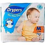 Drypers Wee Wee Dry Diapers, M, Case, 3 packs x 74 Count