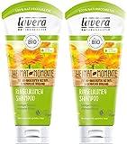 lavera Haar Shampoo Ringelblume ∙ Seidiger Glanz & intensive Pflege ∙ vegan ✔ Bio Haarshampoo ✔ Natural & innovative Hair Care ✔ Naturkosmetik ∙ Haarpflege 2er Pack (2 x 200 ml)