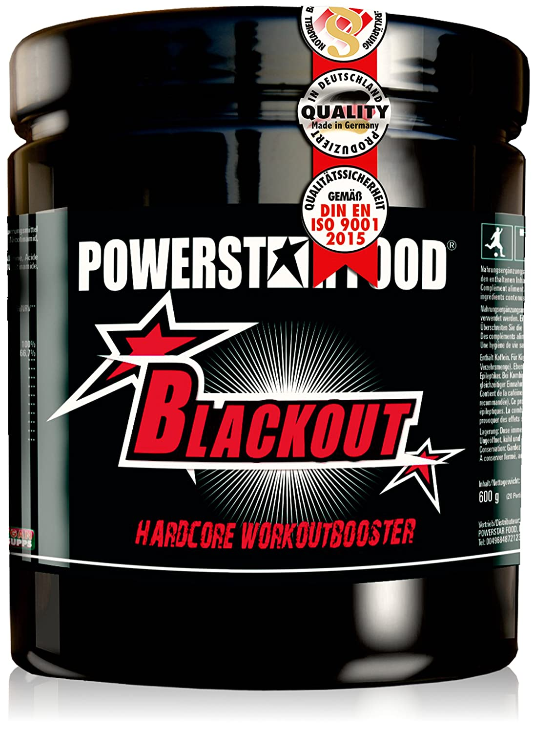 81Qop6FRwlL. SL1500  - Powerstar Blackout - Der EU Workoutbooster im Test