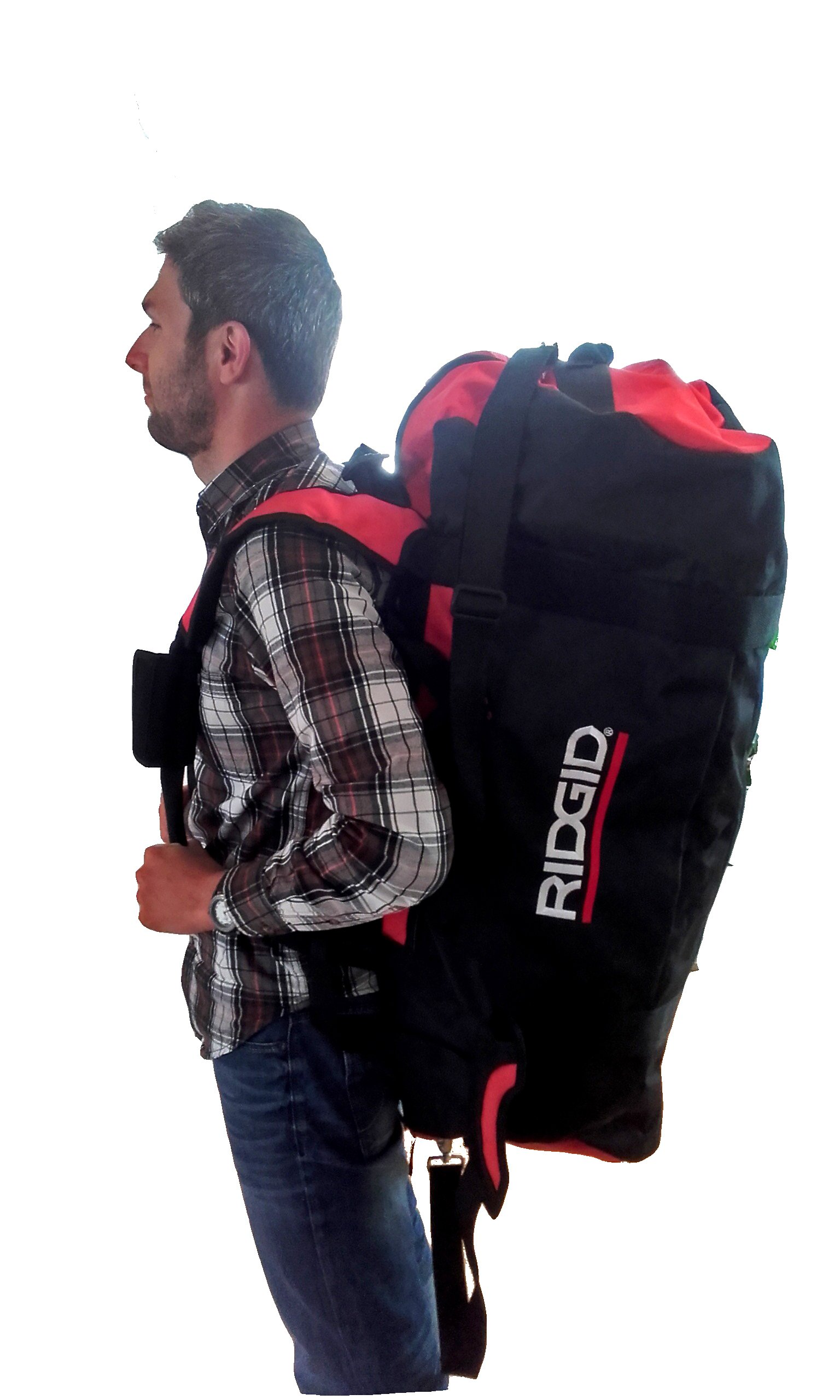 Ridgid XL Duffel Bag (Toolbag); LxWxH 950x450x410mm; 101 cm³; with adjustable Heavy Duty shoulder belts by