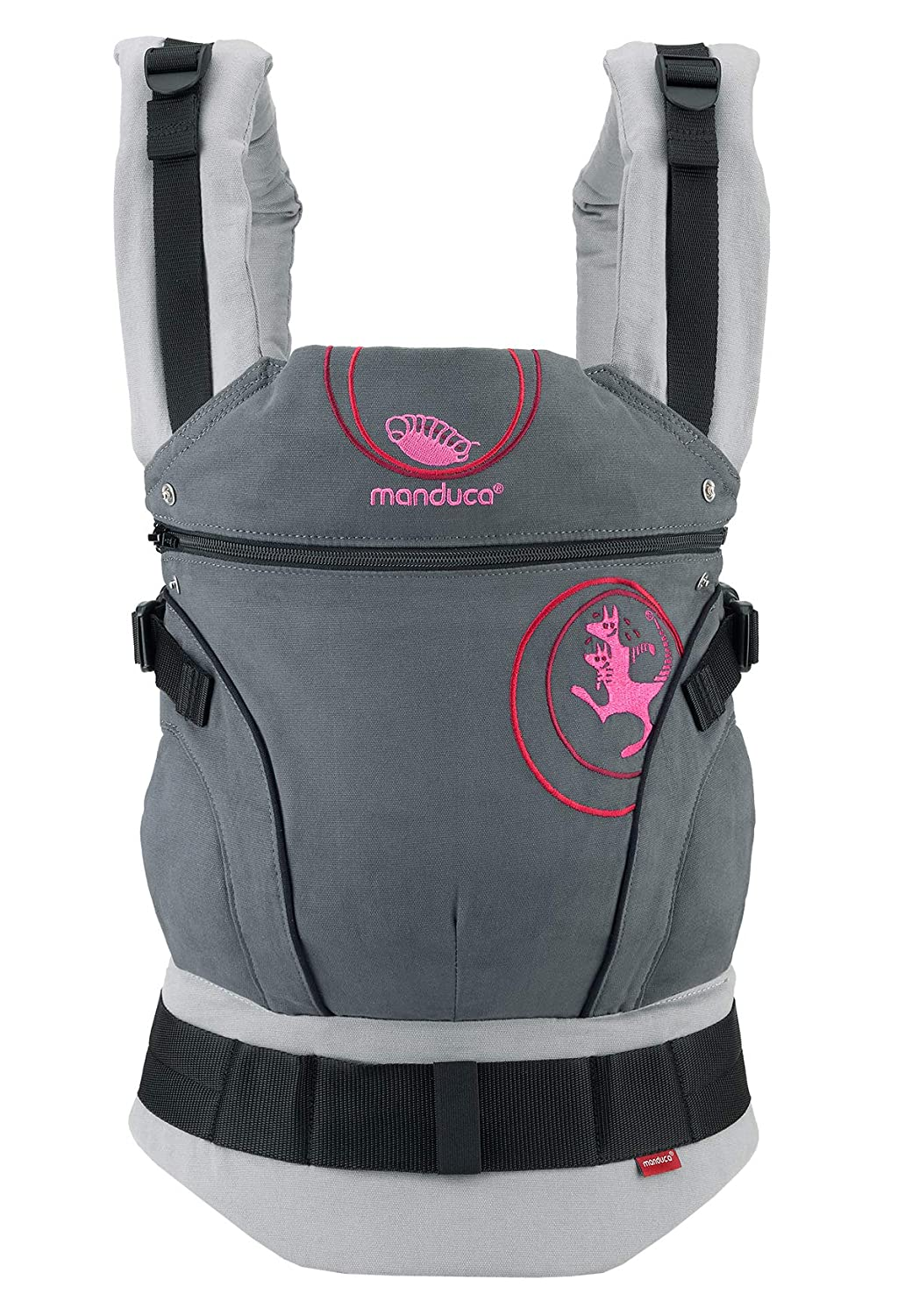 manduca First Baby Carrier > Bellybutton by manduca Edition, SoftCheck Blue < Child Carrier with Ergonomic Waist Belt & Patented Back Extension, Newborn to Toddler