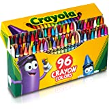 Crayola Classic Color Crayons in Flip-Top Pack with Sharpener, 96 Colors, Gift for Kids