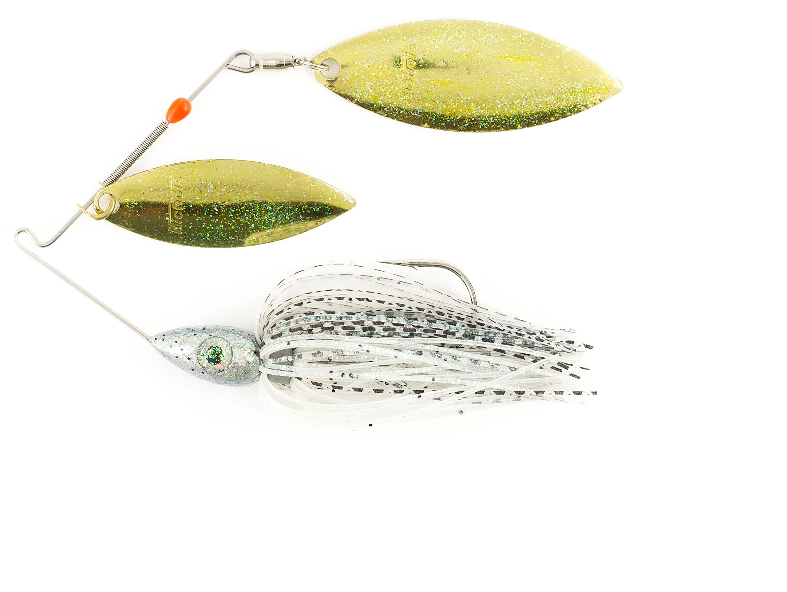 Nichols Lures Pulsator Metal Flake Double Willow Spinnerbait, Baby Bass, 1/2-Ounce by Nichols Lures