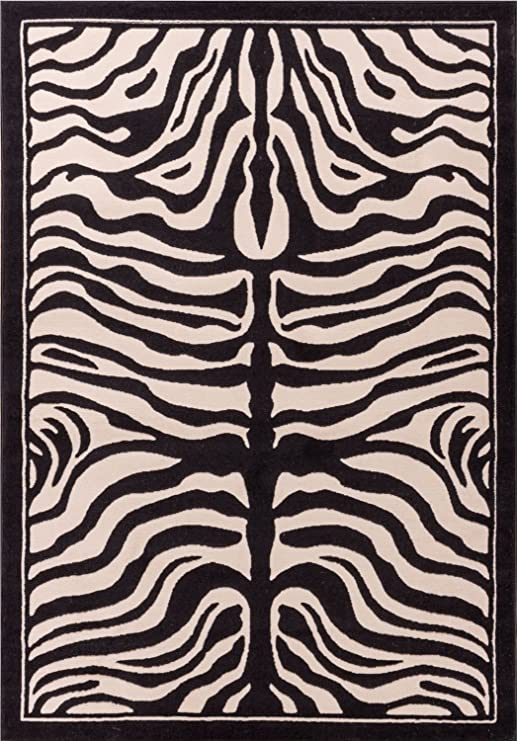 Zebra Print Rug Contemporary Area Rugs 5x8 Zebra Rugs Large 5x7 Zebra Rugs  for Living Room Animal Print Rugs (Medium 5\'x8\')