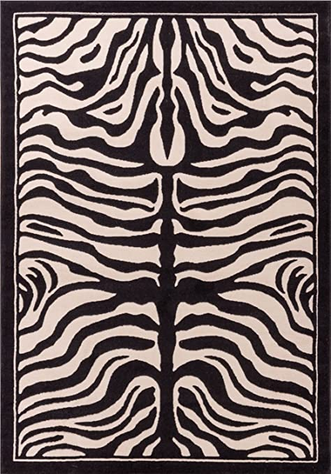 amazon com zebra print rug contemporary area rugs 5x8 zebra rugs