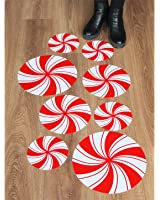 Peppermint Floor Decals/ Stickers for Christmas Party Decoration