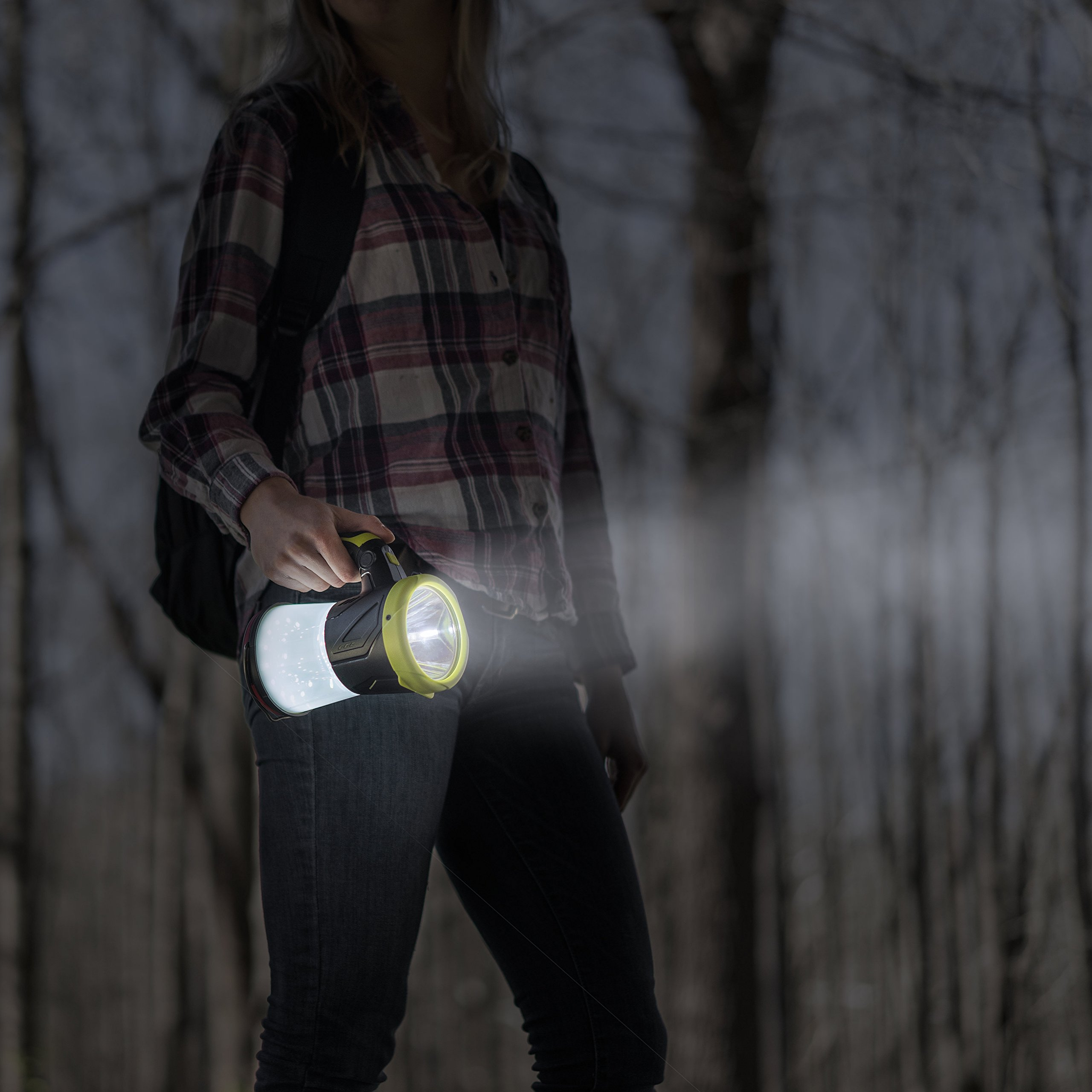 Rechargeable LED lantern Flashlight, USB Charging Cord Included, Super Bright 4 in 1 Portable LED Searchlight & Torch Light, Great for hiking, Camping Gear, Indoor-Outdoor Use, Shoulder Strap Included by SAMLITE (Image #7)