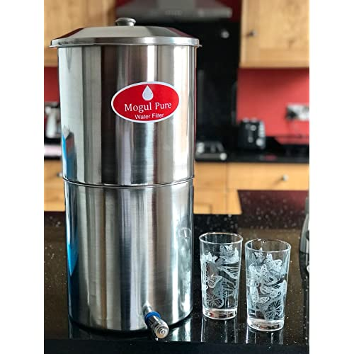Mogul Stainless Steel Gravity Water Filter Travel Camping Filter *Limited Offer* Candles not Included