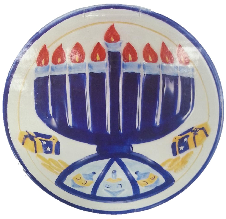Hanukkah Menorahキャンディディッシュ B01LWPKMQH