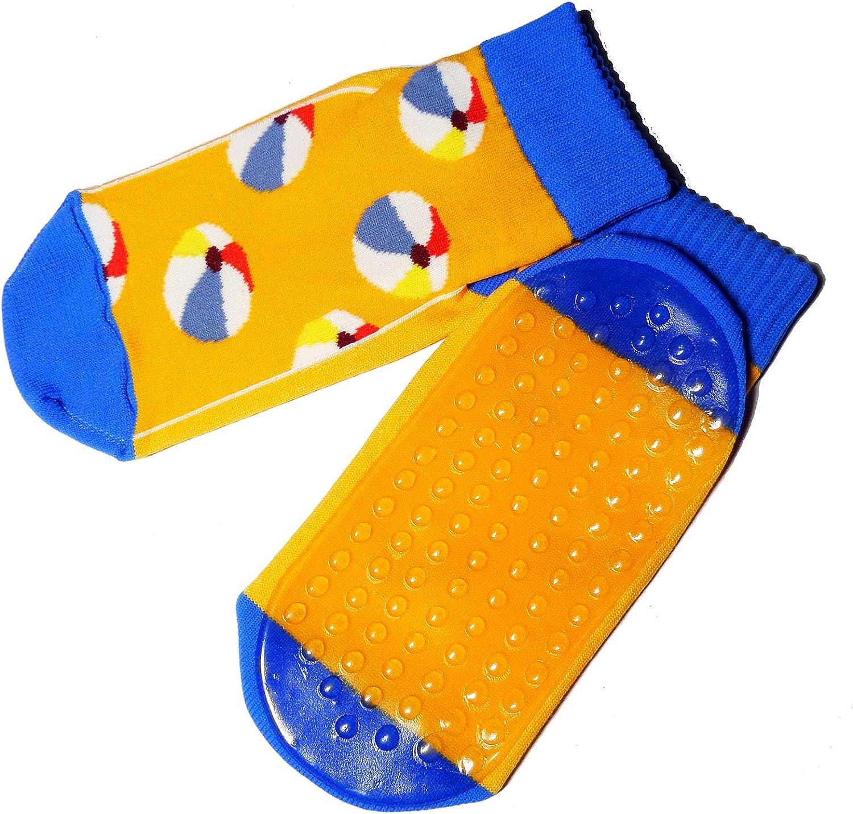Weri Sp/écials Chaussettes de plage pour b/éb/é et enfant avec rev/êtement ABS chaussettes aqua pour fille gar/çon avec balles de plage Taille 19 /à 38