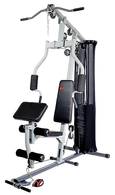 AsVIVA MG4 Multi de Fuerza de Gym Power Station Incluye Peso Bloques – La Fuerza Trainer