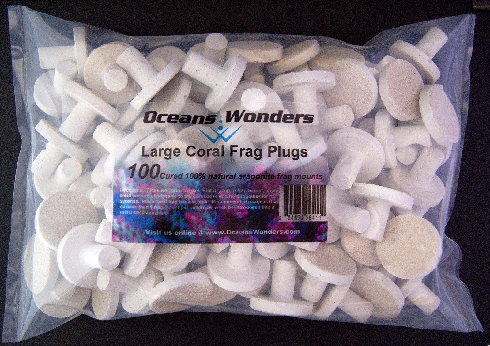 Oceans Wonders Large Coral Frag Plugs 100pc by Oceans Wonders