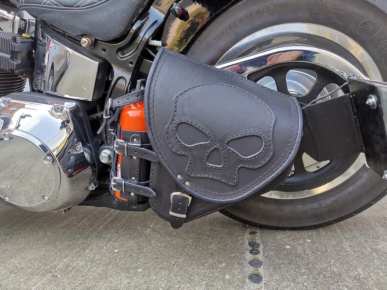 Diablo Skull Von Orletanos Kompatibel Mit Schwingentasche Satteltasche Harley Davidson Softail Fatboy Heritage Starrahmen Fat Bob 2018 Tasche Motorradtasche Auto