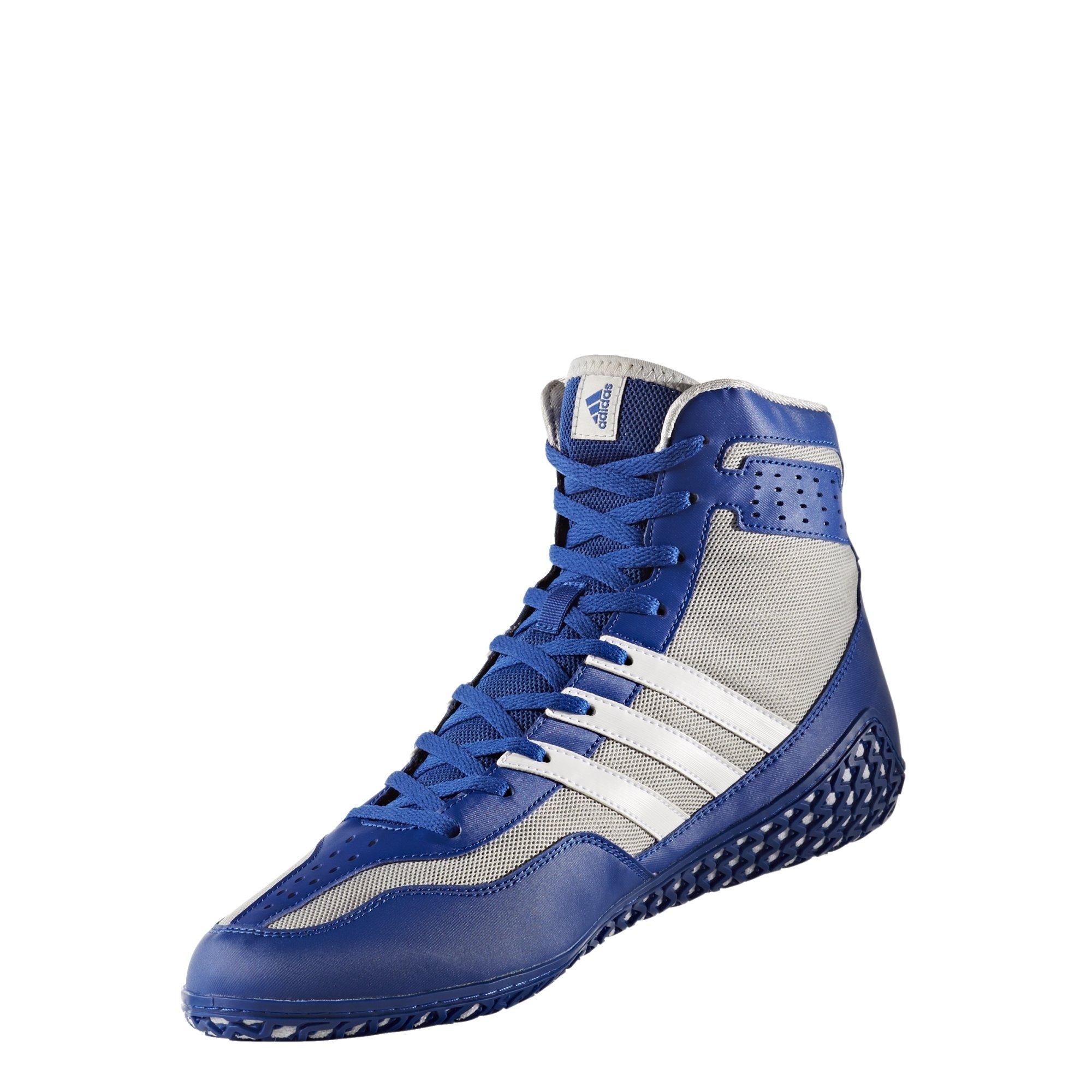adidas Mat Wizard Men's Wrestling Shoes, Royal/White/Grey, Size 13