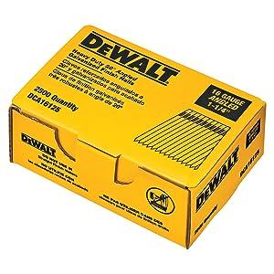 DEWALT DCA16125 1-1/4-Inch by 16 Gauge 20-Degree Finish Nail (2,500 per Box)