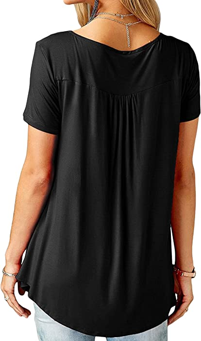 Summer Printing Shoulder T-shirt Women Bare Shoulder Short Sleeve Tops Womens Loose Long Round Neck Plus Size Tops T-shirt A464 Moderate Price T-shirts