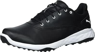 PUMA Golf Men's Grip Fusion Golf Shoe, Black/White, 7 Medium US
