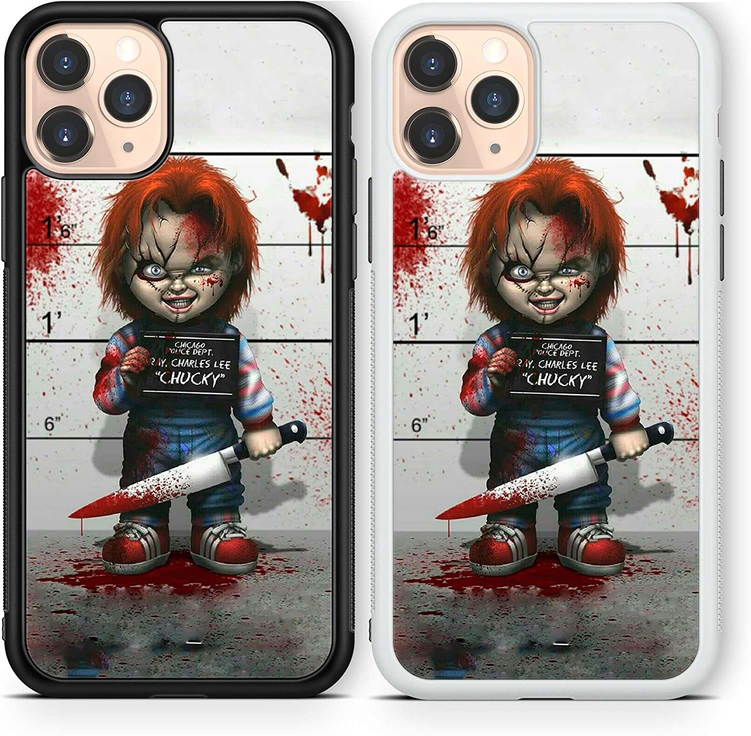Halloween Scary case Compatible with iPhone 12 pro max Mini 11 XR X 7 8 SE Galaxy S20 Ultra S10 Note 10 20 TPU Cover SN192 (White, for iPhone 12 Pro max)