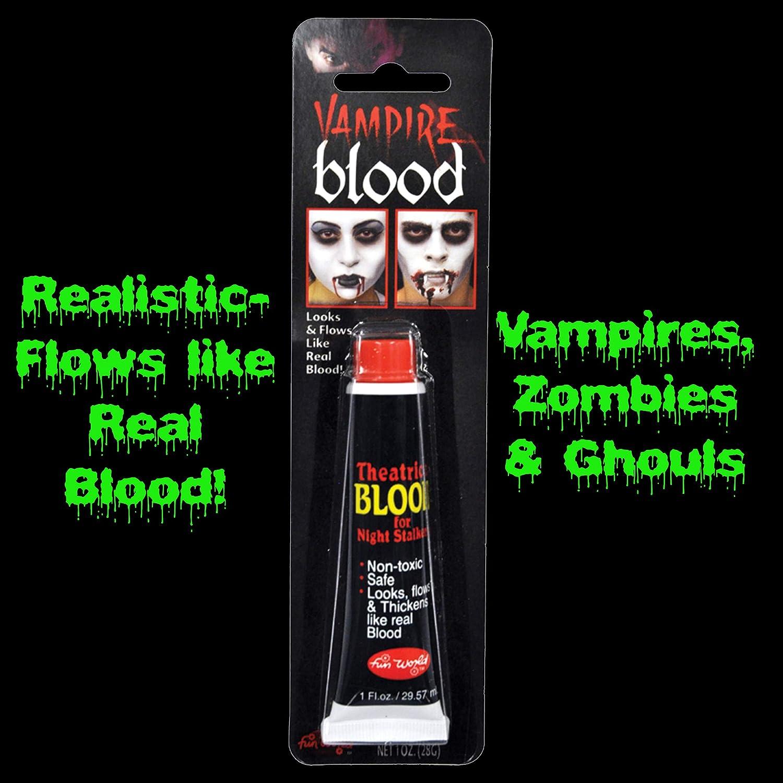 A381 Vampire Fake Stage Tube Blood Halloween Makeup Make Up Zombie Dracula Tube
