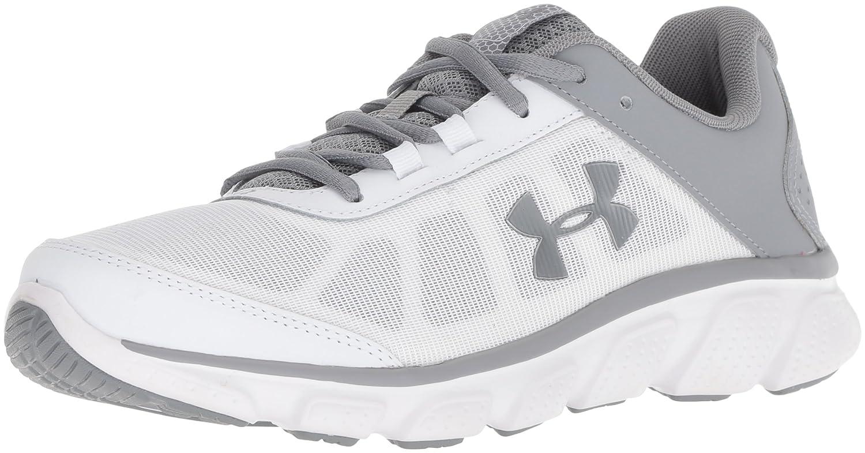 Under Armour Women's Micro G Assert 7 Sneaker, Black/White/White B076S54JG5 10 M US|White (104)/Steel