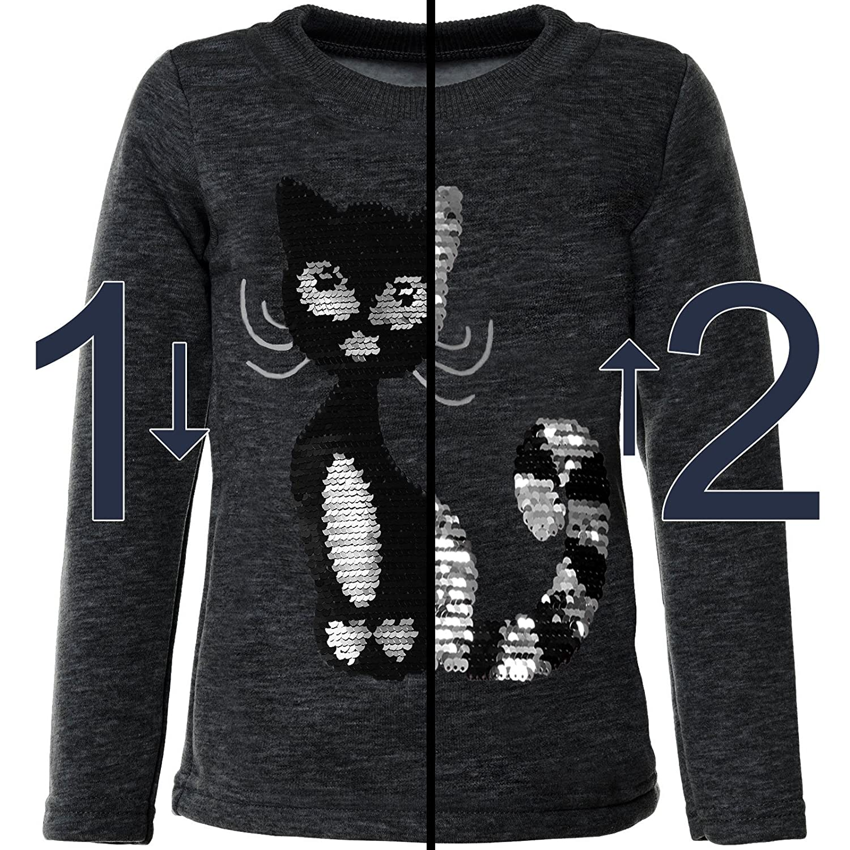 BEZLIT M/ädchen Pullover Wende-Pailletten Katzen 21547