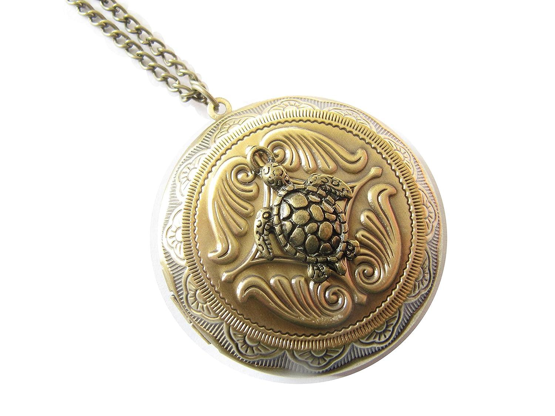 Longevity Turtle Locket Necklace Sea Turtle Locket Jewelry Tortoise Locket