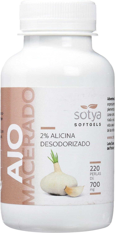 Sotya Softgels, Ajo Macerado, 220 Perlas, 700 mg